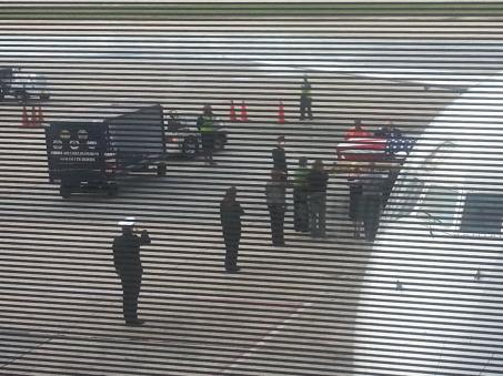 casket from plane