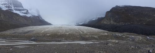 Athabasca glacier toe