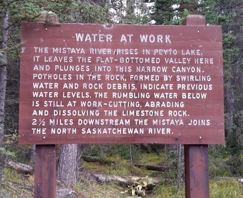 Mistaya Canyon info 2
