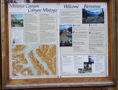 Mistaya Canyon info