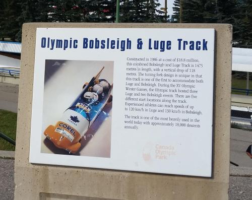 Olympic bobsled track sign