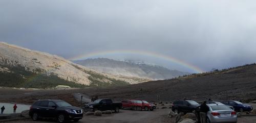 Rainbow Athabasca glacier