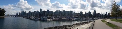 Stanley Park view across yacht basin