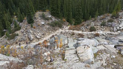 Trail from top of rockpile