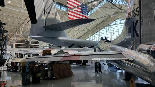 Evergreen musuem interior Spruce Goose and B-17