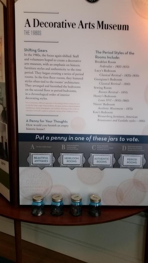 Pittock mansion donation jars