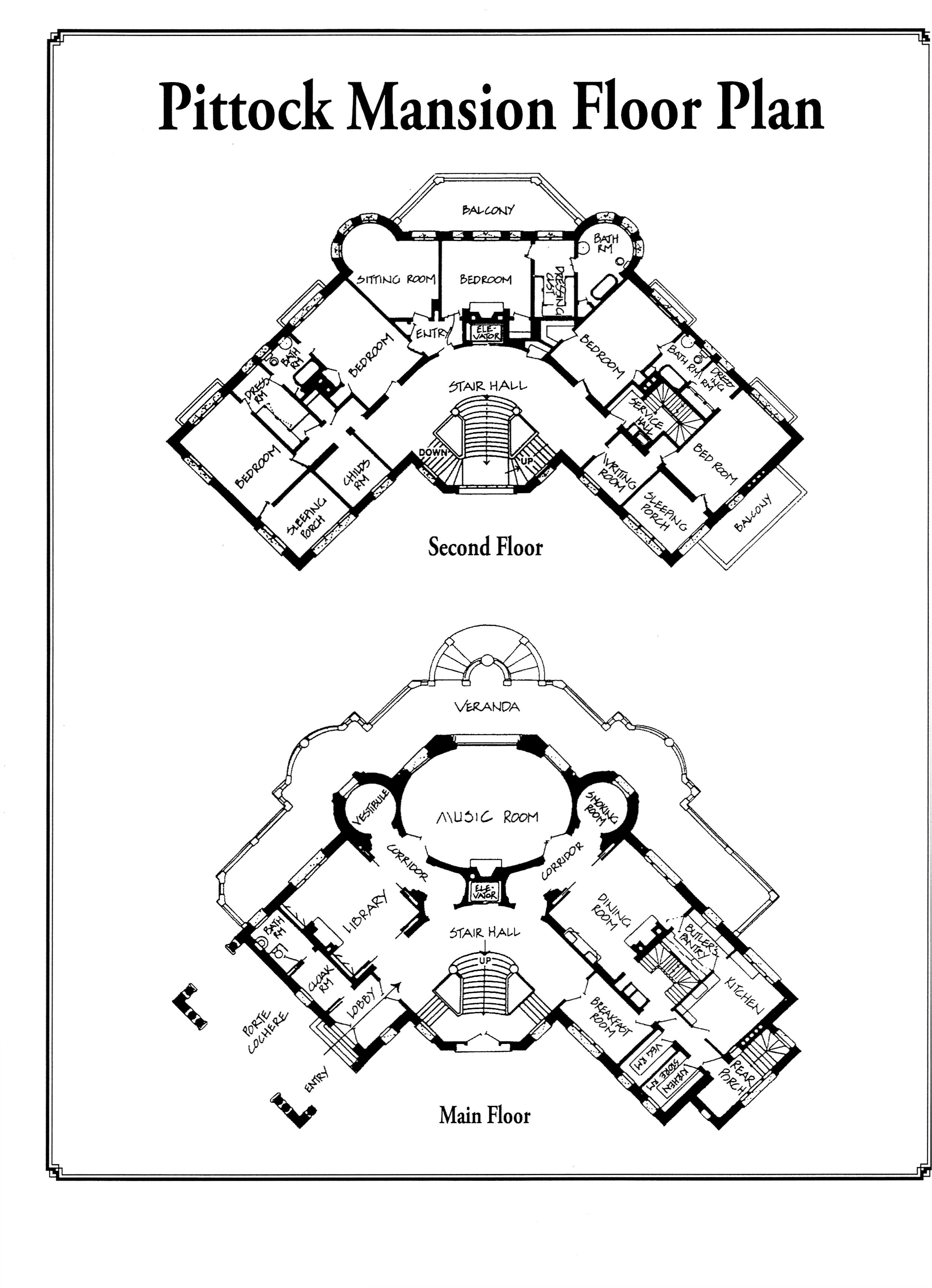 Pittock Mansion Floor Plan 1 Fixed Points