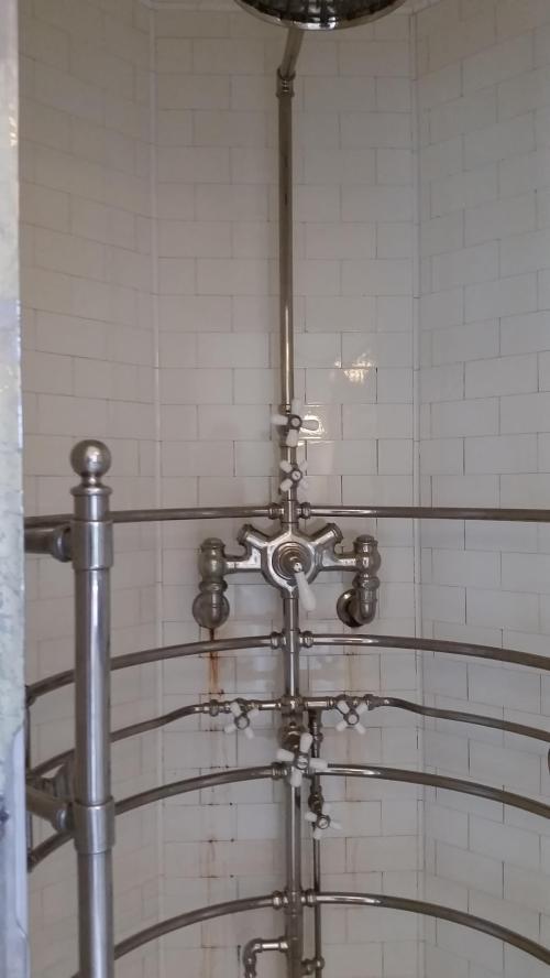 Pittock mansion shower 2