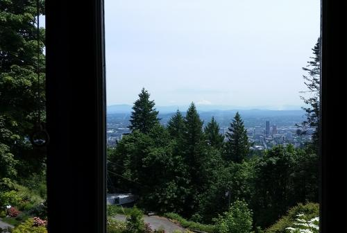 Pittock mansion view from bedroom