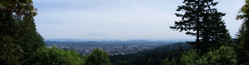 Pittock mansion view from yard
