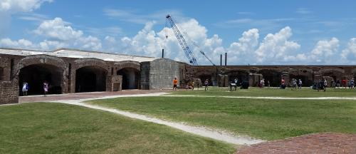 Ft Sumter from parade ground