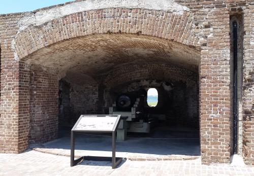 Ft Sumter lower gun emplacement