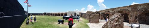 Ft Sumter parade ground view 2