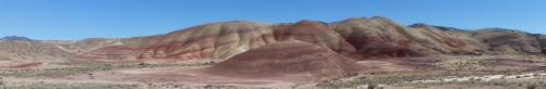 Painted Hills near overlook panorama 1