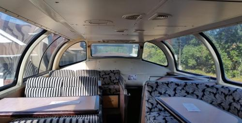 2017 Bday Mt Hood RR dome car interior 1