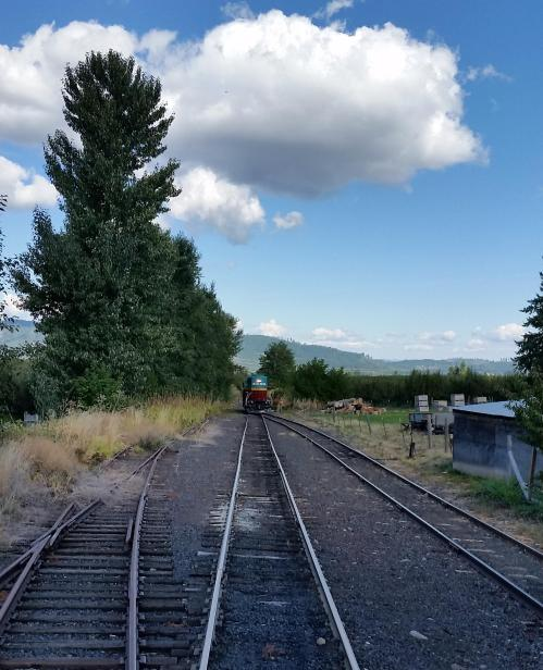2017 Bday Mt Hood RR locomotive runaround