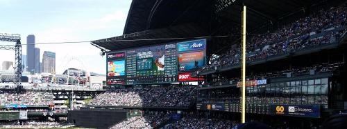 Safeco Field scoreboard middle 1st 21 May 2017