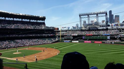 Safeco Field veiw from seat 21 May 2017