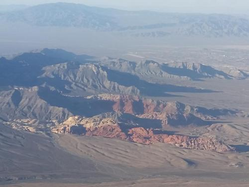 Nevada Red Rock Canyon from air