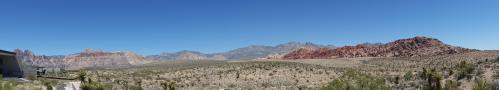 NV Red Rock Canyon panorama from visitor center