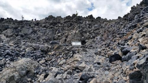 OR Newberry Big Obsidian Flow sign 3 overview 190625