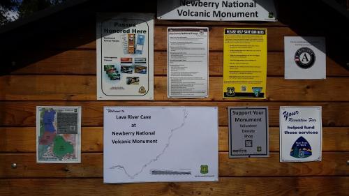 OR Newberry lava tube sign board 190624