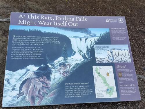 OR Newberry Paulina Falls sign 190625